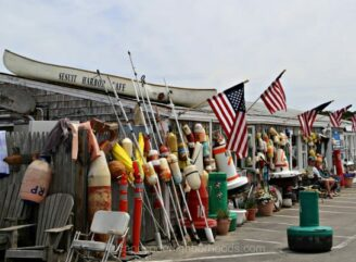 Photo of a typical Cape Cod fish shack. Sesuit Harbor Cafe in Dennis