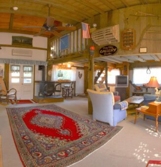 Photo of the Barn Stable living room area