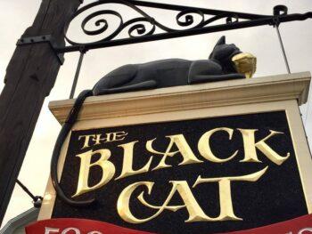 The Black Cat sign