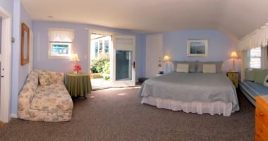 photo of Sweet 9 bed in room with blue walls