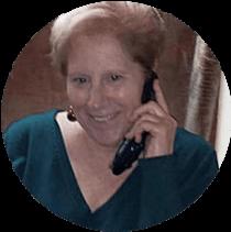 Eileen working hard on the phone
